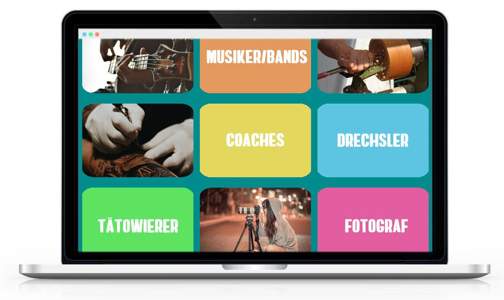 Webseiten für Musiker, Kreative, Coaches, Fotografen