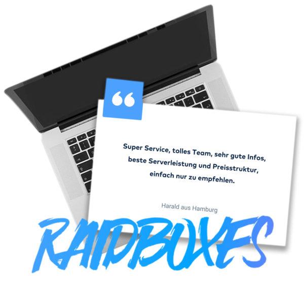 Kundenstimme für Raidboxes